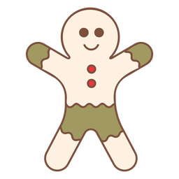 Christmas gingerbread man cool