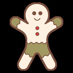 Homem de gengibre de Natal legal