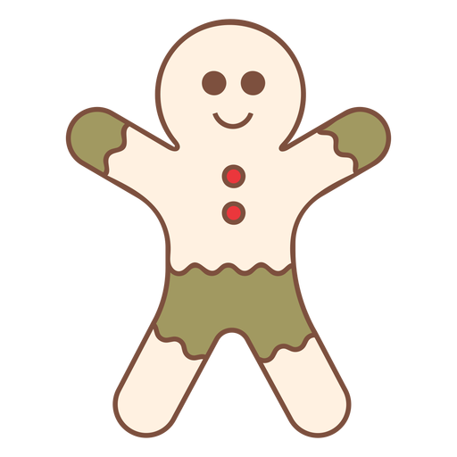 Christmas gingerbread man cool Transparent PNG