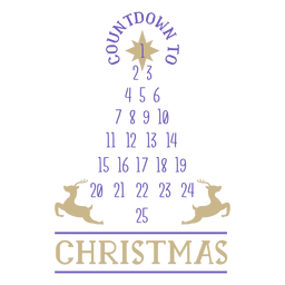 Christmas numbers countdown