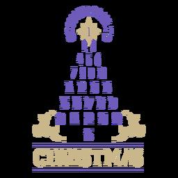Números navideños cuenta regresiva