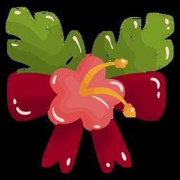 Adornos navideños tropicales