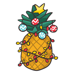 Christmas pineapple cool