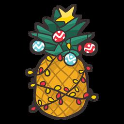 Piña navideña fresca