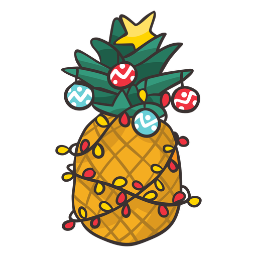 Christmas pineapple cool Transparent PNG
