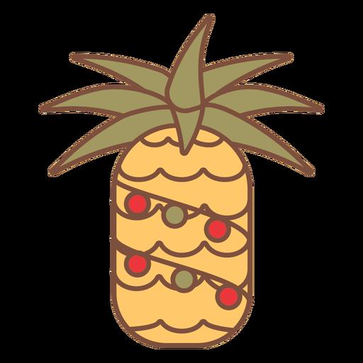 Christmas pineapple tropics Transparent PNG
