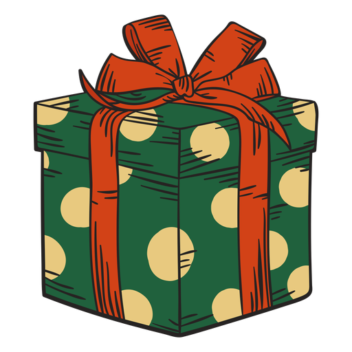Christmas present box colorful Transparent PNG