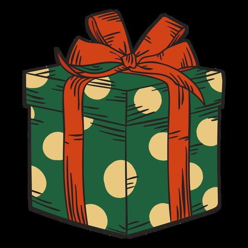 Christmas present box colorful