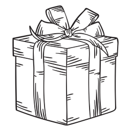 Christmas present box stroke