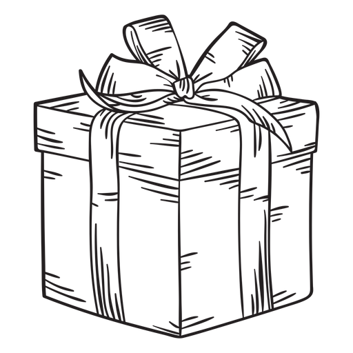 Christmas present box stroke Transparent PNG