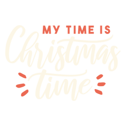 Christmas time lettering