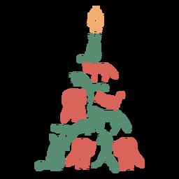 Composición animal del árbol de navidad