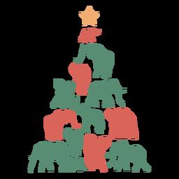 Composición del elefante del árbol de navidad