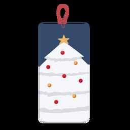 Christmas tree tag