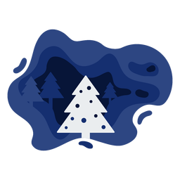 Christmas tree winter papercut