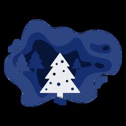 Papercut de inverno de árvore de natal
