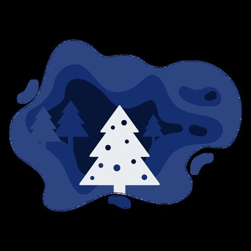 Christmas tree winter papercut Transparent PNG