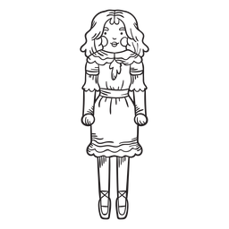 Trazo de cascanueces muñeca Clara