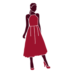 Classy woman dress silhouette