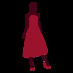 Silueta de vestido de mujer con clase