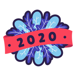 Colorful 2020 badge