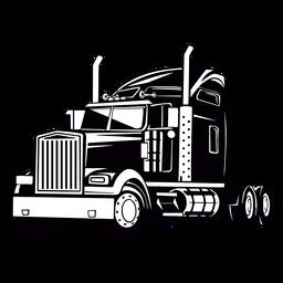 Genial dibujo de camión grande