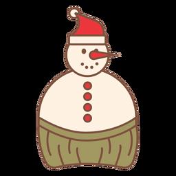 Cool tropics snowman