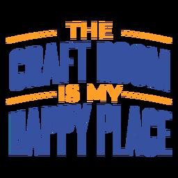 Sala de artesanía feliz lugar letras