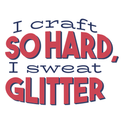 Craft so hard glitter lettering