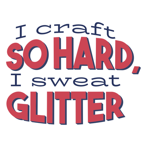 Craft so hard glitter lettering