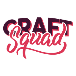 Craft squad lettering