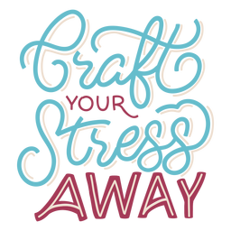 Craft stress lettering