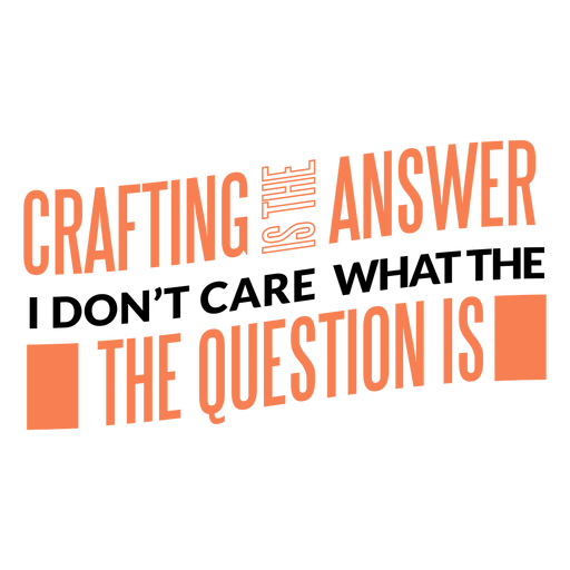 Crafting answer lettering
