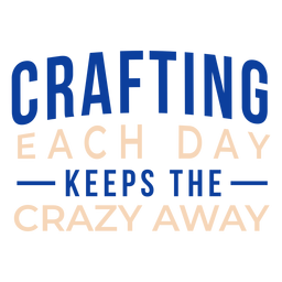 Crafting crazy away lettering
