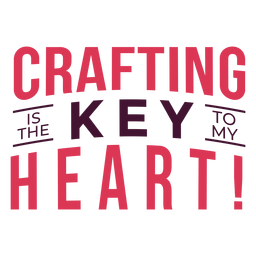 Crafting key heart lettering