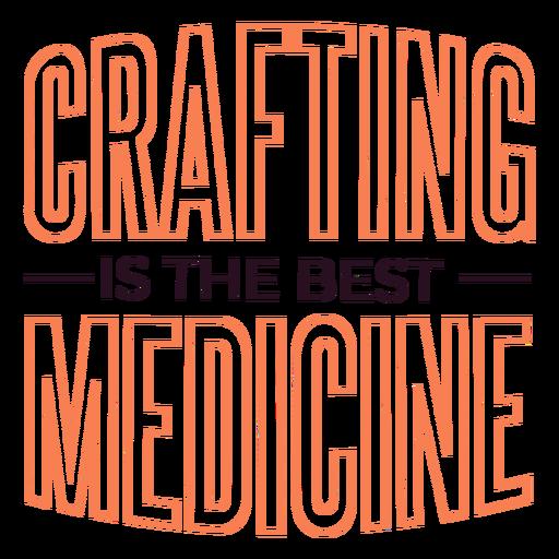 Crafting medicine lettering