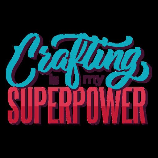 Criação de letras de superpoder