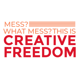 Creative freedom lettering