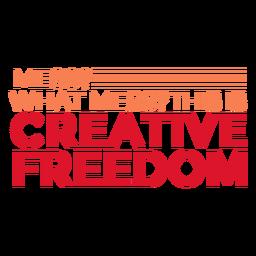 Letras de liberdade criativa