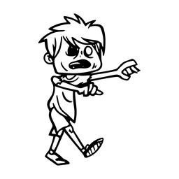 Creepy zombie kid