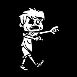 Creepy zombie kid