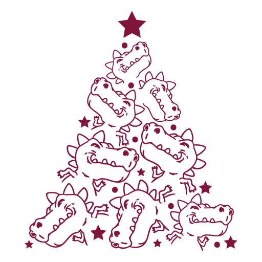 Crocodile christmas tree
