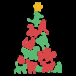 Gatos lindos árbol de navidad