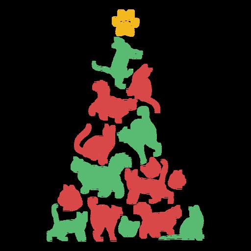 Cute cats christmas tree