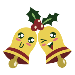 Cute christmas bells elements