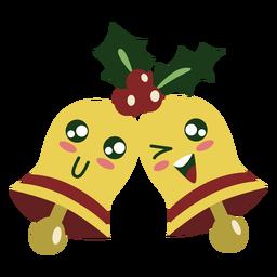 Lindos elementos de campanas de navidad