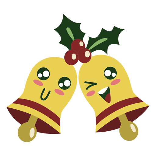 Cute christmas bells elements Transparent PNG