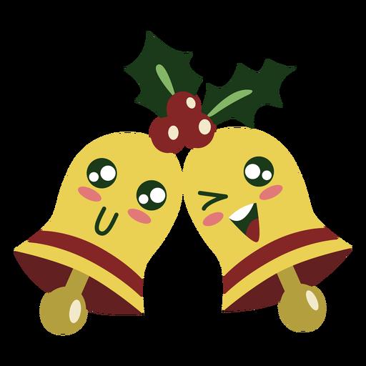 Lindos elementos de campanas de navidad Transparent PNG