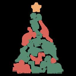 Lindo árbol de navidad de dinosaurios
