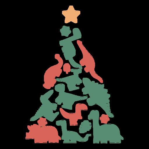Lindo árbol de navidad de dinosaurios Transparent PNG